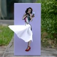 Ava Tissue Box Cover Girl - Red Candy