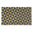 Gold Triangles Doormat - Red Candy