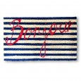 Bonjour Doormat - Red Candy