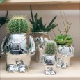 Silver Astronaut Planters (3 sizes) - Red Candy