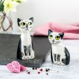Black & White Cat Salt & Pepper Shakers - Red Candy