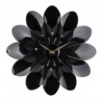 Flower Power Wall Clock - Black - Red Candy