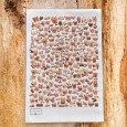 Boobs, Bums & Willies Tea Towel - Red Candy