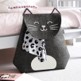 Chloe the Cat Laundry Basket - Red Candy