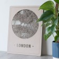 Round City Map London (2 Colours and Sizes Available) - Red Candy