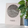 Round City Map Paris (2 Colours and Sizes Available) - Red Candy