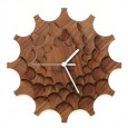 Cogwheel Wall Clock (Walnut) - Red Candy
