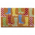 Colourful Wellies Doormat - Red Candy