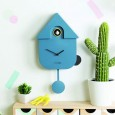 Cuckoo House Wall Clock (Blue) - Red Candy