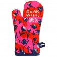 Dear Wine, Yes Oven Glove - Red Candy