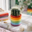 Rainbow Plant Pot - Red Candy