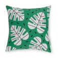 Evermade Monstera Cushion – green leaf print cushion