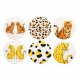 Feline Coasters (Set of 6) - Red Candy
