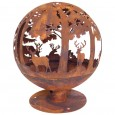 Woodland Fire Globe - Red Candy