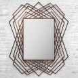 Copper Geometric Wall Mirror - Red Candy
