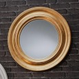 Gold Framed Circular Mirror (84cm) - Red Candy