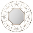 Gold Geometric Circular Mirror (89cm) - Red Candy