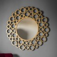 Gold Rings Mirror (118cm) - Red Candy