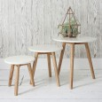 Scandi White Nesting Tables (Set of 3) - Red Candy