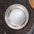 Silver Framed Circular Mirror (84cm) - Red Candy