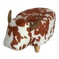 Caesar Footstool - Red Candy
