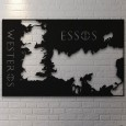 Game of Thrones Map Wall Art - Red Candy