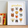 Growlers A4 Print - Red Candy