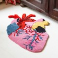 Heart Rug - Red Candy