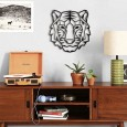 Geometric Tiger Wall Art - Red Candy