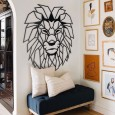Lion Head Metal Wall Art - Red Candy