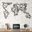 Hoagard Geometric World Map (Black, 3 Sizes) - Red Candy