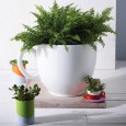 Tea Cup Planter – white designer tea cup flower pot