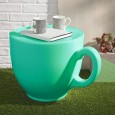 Tea Cup Stool - Green - characterful teacup shaped seat