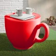 Tea Cup Stool – red designer teacup chair