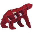Ibride Bear Bookcase Joe – red designer animal bookshelf