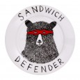 Sandwich Defender Side Plate - Red Candy