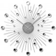 Karlsson Sunburst Large Wall Clock (Silver) - Red Candy