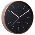 Karlsson Minimal Copper Clock (Black) - Red Candy