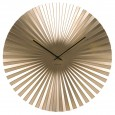 Karlsson Sensu Clock Large - Gold - pleated wall clock
