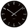 Karlsson Slim Index Clock (Black) - Red Candy