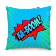 Comic Ka-Boom Blue Sofa Cushion (2 Sizes) - Red Candy