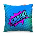 Comic Smash Blue Sofa Cushion (2 Sizes) - Red Candy