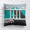 Back to the Future Cushion - Red Candy