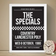 The Specials Coventry Lanchester Poly Gig Art Print - Red Candy