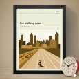 The Walking Dead City Art Print - Red Candy