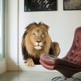 Lion Wall Sticker - Red Candy