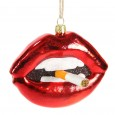 Lips with Cig Bauble - Red Candy