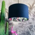 Silhouette Cotton Lampshade in Grey Chimiracle (Deep Space Navy) - Red Candy