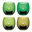 LSA Coro Tealight Holders (Leaf Set of 4) - Red Candy