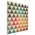 Colour Geometry Square Wood Print - rainbow triangle wall decor